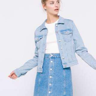 PULL&BEAR FITTED DENIM JACKET