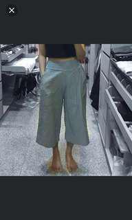 🚚 淺藍色棉麻寬褲