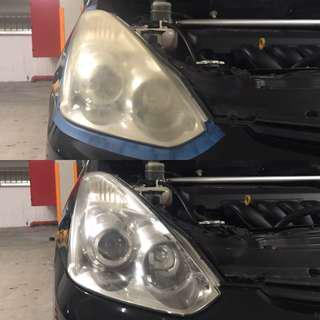 Toyota Wish ZNE headlight Restoration