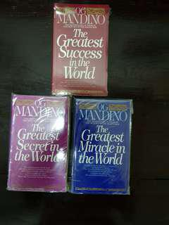1) The Greatest Success in the World  2) The Greatest Secret in the World. 3) The Greatest Miracle in the World