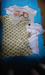 3pcs - super cute *used* tshirts - cheap!