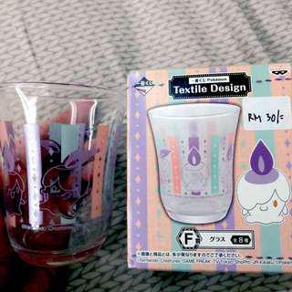 Pokemon Textile Design F Prize Ichiban Kuji Litwick Glass
