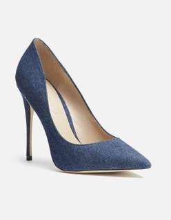 (7.5) ALDO Stessy Denim Heels