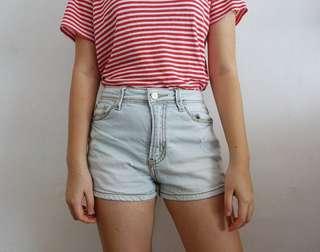 High Waisted Denim Shorts ROMP