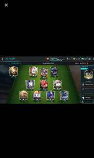 *Steal* FIFA Mobile Elite Account 106 OVR, 90+ WC Team