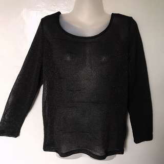 Divided by h&m glittery knit see through top