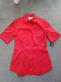 BNWT Mango Red Blouse/ Shirt