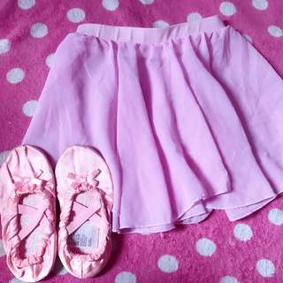 H&m love to dance ballet shoes with ballet skirt