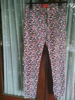 Triset flower jeans