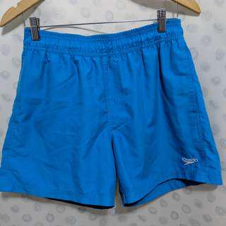 speedo blue shorts size L