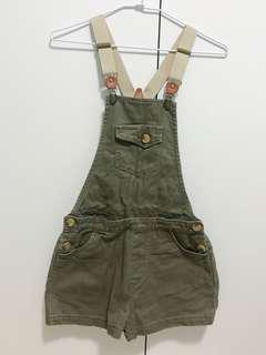 🚚 50%可拆式墨綠吊帶短褲