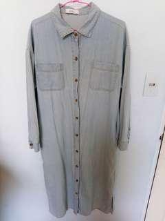 🚚 長版牛仔襯衫