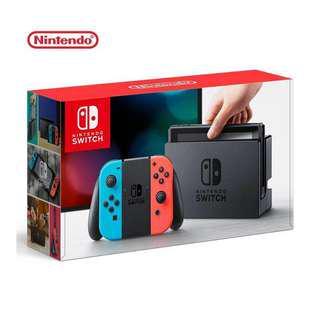 Nintendo 任天堂 Switch 主機 電光紅藍 (台灣公司貨)8/8 20:00限定
