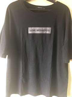 SM Woman Black Statement Shirt (XL)