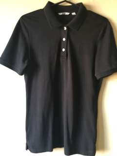 Uniqlo Black Polo Shirt, Fits M-L