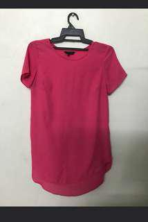 New look pink chiffom blouse