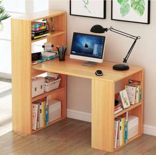 Computer Table with Shelf Office Wood Desk Furniture