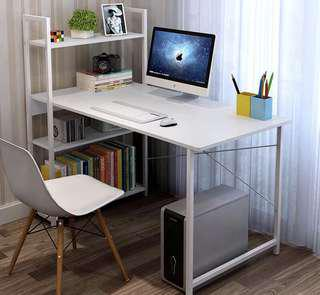 Computer Table Steel Frame Office Desk with Shelf