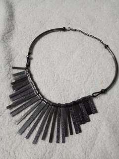 Kalung necklace spike dark silver tembaga abu tua