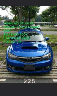 subaru wrx STI ver10 manual 2.5 turbo 6speed