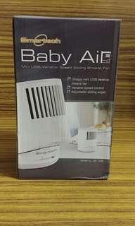 全新 Smartech Baby Air 迷你USB無段變速風扇 Mini USB Variable Speed Sliding Breeze Fan