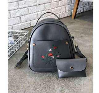 Bucket Bag gray 2 in 1
