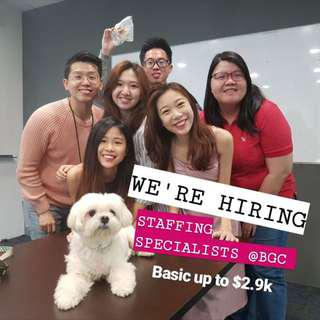 Hiring Staffing Specialists (Sales & Non-Sales) on 14/08!