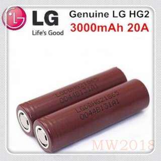 🚚 LG HG2 3000mAh 20A 18650 Battery