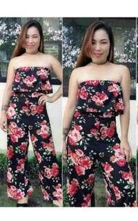 Floral Jumpsuit Comfy Medium to XL