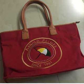 雨傘牌紅色硬板肩背大包包