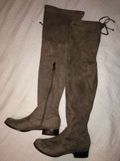 Knee high boots (light brown suede)
