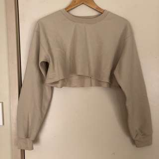 Nude Cropped Jumper