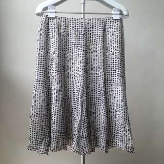 Black and White Printed Skirt