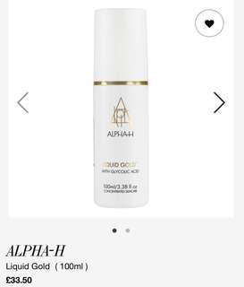 20% off Alpha-H Liquid Gold 100ml Alpha H