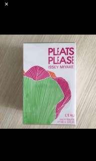 全新 瑞士正貨 未拆開 購自瑞士蘇黎世機場 有單 Issey Miyake Pleats Please L'Eau perfumes