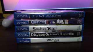 Bundled ps Vita games