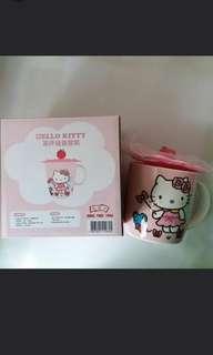 全新正版 Hello Kitty mug 陶瓷杯 連蓋