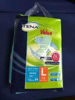 TENA adult diaper L size