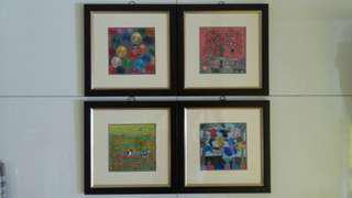 Auspicious Framed Embroidered Pictures