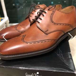 Churches/Cheaney Tan Dress Shoes Size E7F which is EU41 or US8