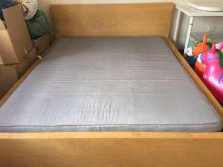 Clear off item! Ikea Malm queen bed & the best Sultan!