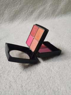 Mini pallete eyeshadow blush on Nonna eye & blusher nude pink cokelat