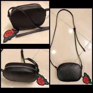 BERSHKA Black Mini Sling Bag
