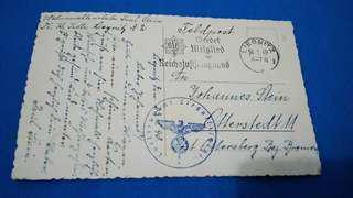 1940 postcard with Nazi postmark.