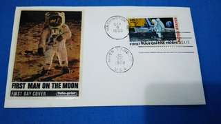 First Day Cover (First Man on the Moon) Washington stampmark