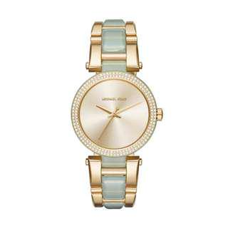DELRAY PAVE GOLD DIAL LADIES WATCH MK4317
