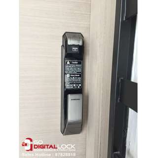 Samsung P718 Push Pull Digital Lock (4in1) Install on Door at $850 (Call 87828818)