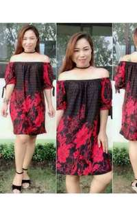 Yanna Off Shoulder Dress Prints Medium to XL