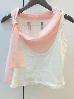 Valentino cotton top with scarf