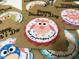 🚚 Happy Teacher's Day - Hang Tags